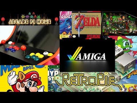 Raspberry pi, Retropie 4 2   Amiga and Pro pinball retropie image  Bartop  arcade machine