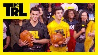 The Dolan Twins Play 'Turkey Touchdown' | TRL