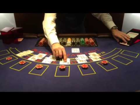 Blackjack dealing - YouTube