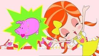 ブタの人形がおまけに入っている、新発売のラッキーチョコ。希少なピンクのブタを好きな人にプレゼントすると、恋が叶うという。るるちゃん...