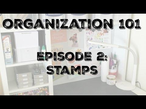 Craftroom Organization 101: Stamp Storage