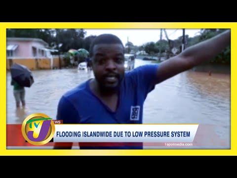 Flooding Islandwide Due to Low Pressure System | TVJ News