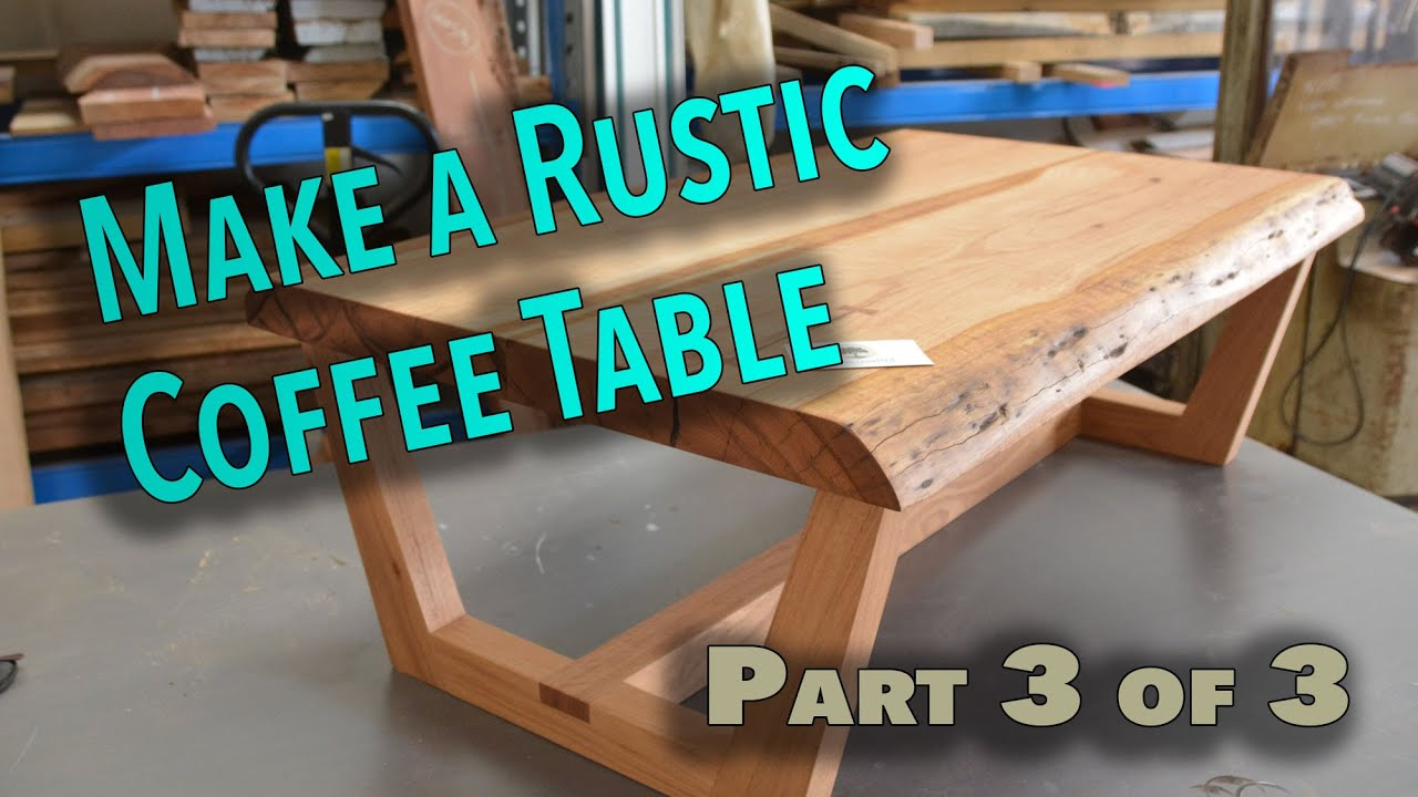 How to make a rustic live edge coffee table Part 3 The bowties