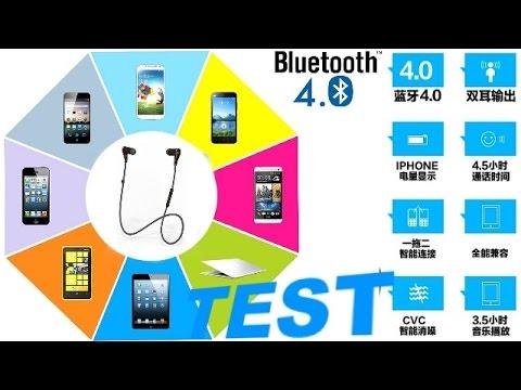 Ecouteurs stereo bluetooth 4 0 test par GLG