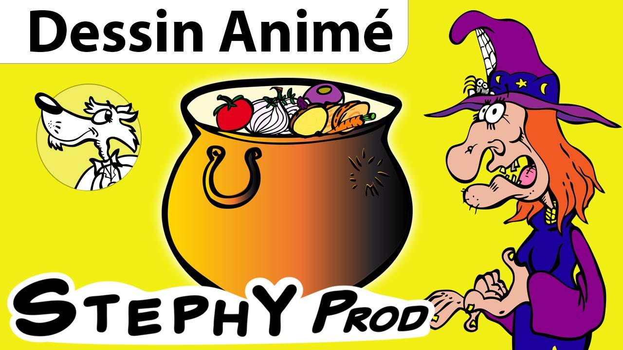 Coloriage Pomme Et Oignon Dessin Anime.La Soupe A La Sorciere Une Histoire D Halloween Pour Les Enfants En Dessins Animes