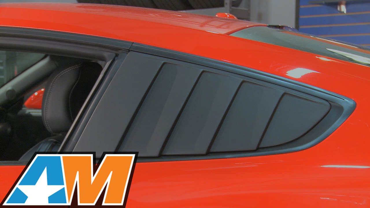 2015 2017 mustang cervini s quarter window louvers review install youtube