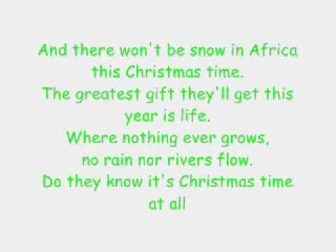 Do They Know It's Christmas - TV All Stars (LYRICS) - YouTube