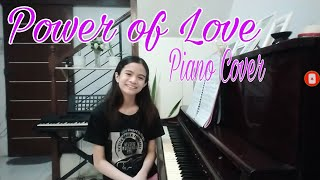 Power of love - Celine Dion (Piano Cover) ft. Danielle Joie at 12 yrs. old видео