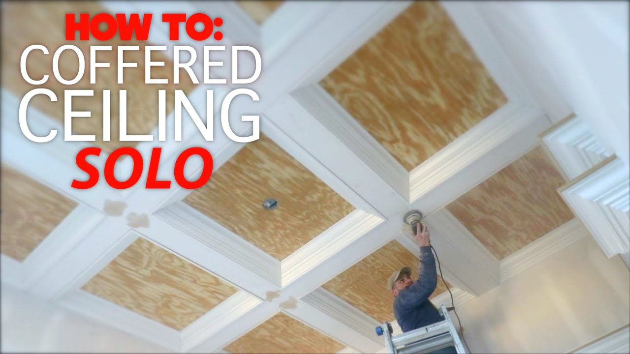 How To Build A Coffered Ceiling You