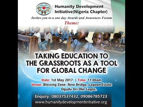 HDI Nigeria 2nd Awards, Awareness Forum  PROGRAM