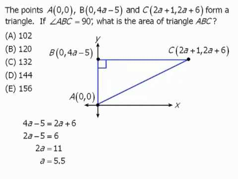 GRE Coordinate Geometry Practice Question and Explanation - YouTube