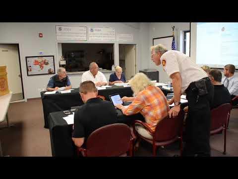 Fire Board Meeting 20170918
