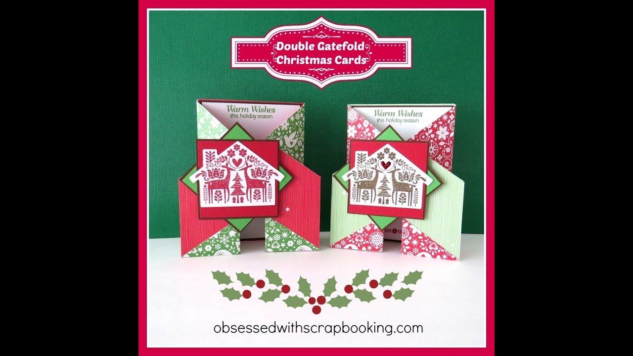Close To My Heart Ctmh Double Gate Fold Christmas Card Art