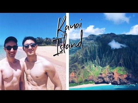 Escape To Kauai Part 1 | Helicopter Tour | Hawaii Travel Vlog | GayCouple | Full HD English+Japanese