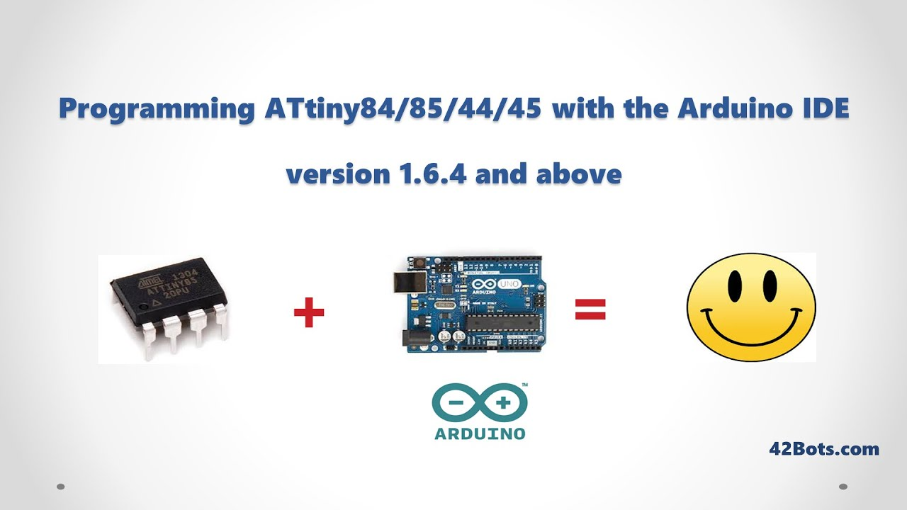 Programming attiny ics with an arduino uno and the