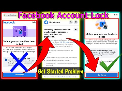 Facebook Account Lock Get Started Problem   Learn More Se Get Started   Your Account Has Been Locked