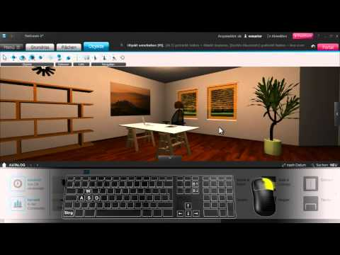 roomeon 3d planer tutorial 4 navigation im raum youtube. Black Bedroom Furniture Sets. Home Design Ideas