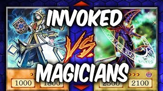 Yugioh DARK MAGICIANS vs INVOKED MAGICIAN GIRLS  (Yu-gi-oh Competitive Deck Duel!)