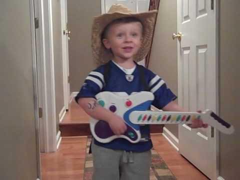 "3 year old Ben singing ""Big Green Tractor"""