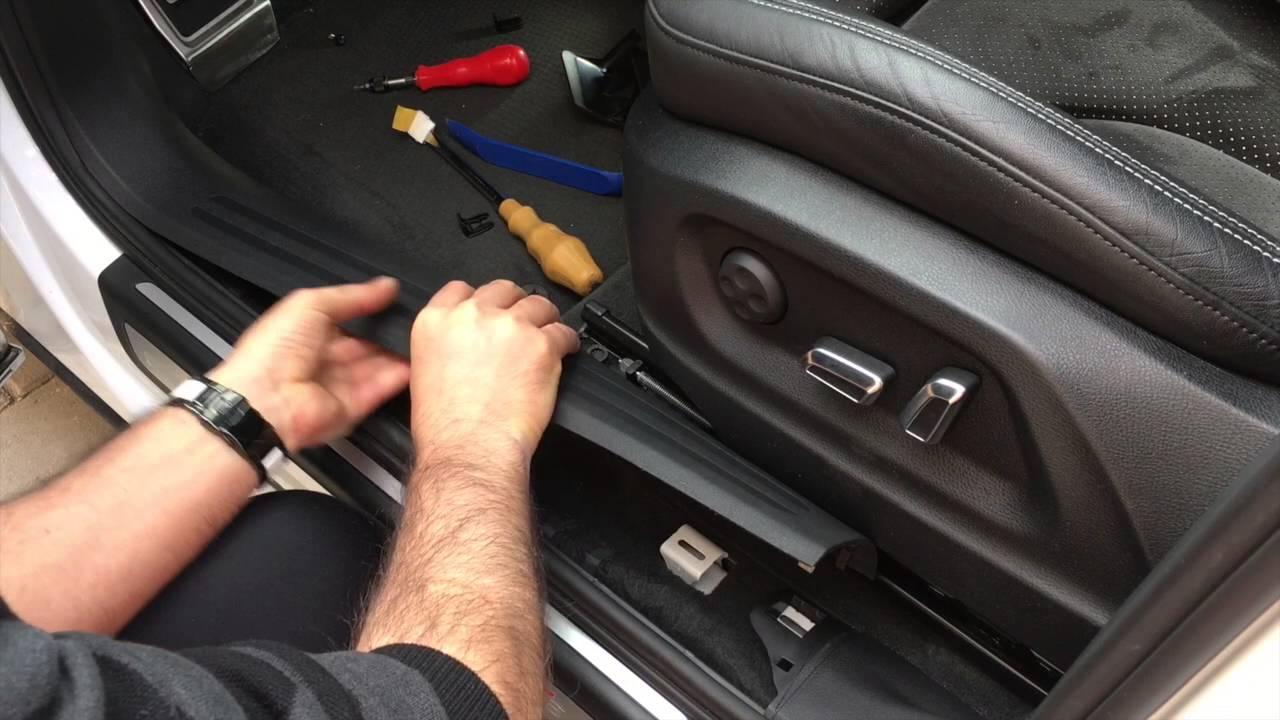 Zelt Für Audi Q5 : Audi q sq aus einbau fußstütze hd youtube