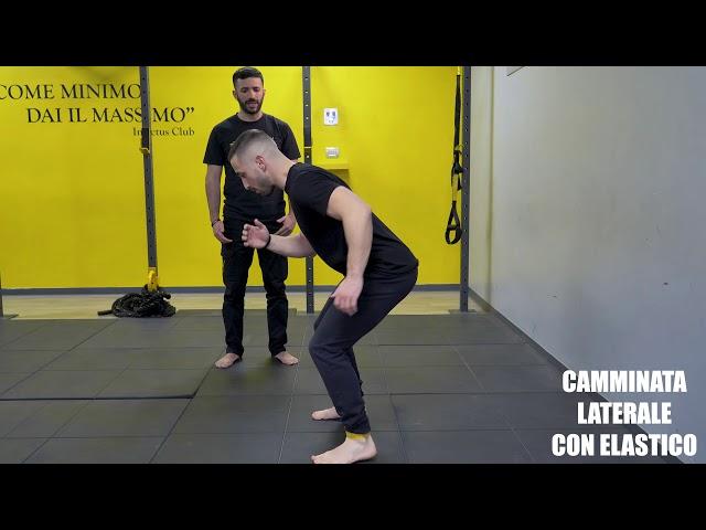 Camminata laterale con elastico.Tecnica ed esecuzione
