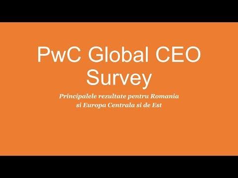 PwC Global CEO Survey - Principalele rezultate pentru Romania si Europa Centrala si de Est