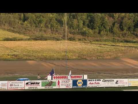 WoodHull raceway national anthem by boy scouts