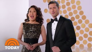 Co-Hosts Andy Samberg And Sandra Oh Talk Golden Globes Prep | TODAY