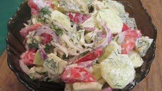 Салат из свежей цветной капусты и свежих овощей. // Олег Карп