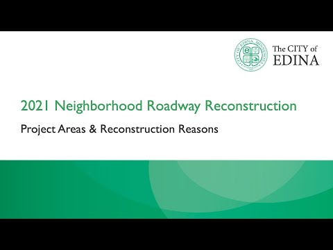 Project Areas and Reconstruction Reasons