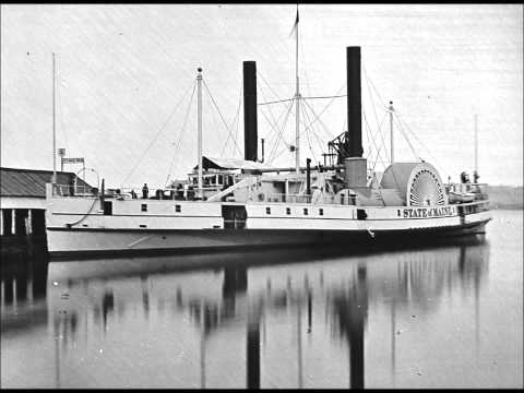 Film-Like Photographic Sequence of the Transport Steamer State of Maine During the Civil War (1864)