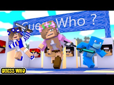 Minecraft GUESS WHO !!! LITTLE CLUB SPECIAL ADDITION w/Sharky and Little Kelly