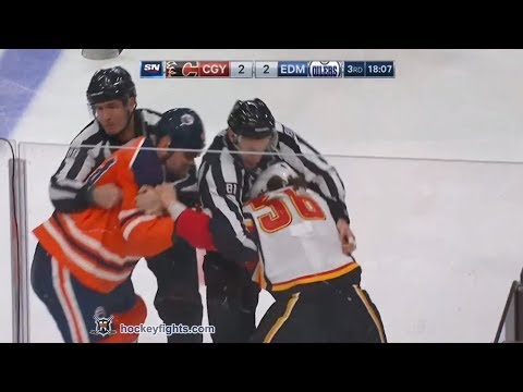 Ryan Lomberg vs Zack Kassian Jan 25, 2018