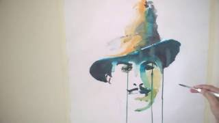 #Making of Bhagat Singh Painting #Ink Painting #Ink Art