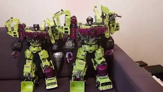 Generation Toy Vs JinBao  Gravity Builder / Devastator Comparison