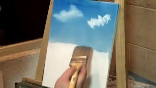 درس رقم 1 رسم منظر طبيعي Landscape Oil Painting Lesson 1