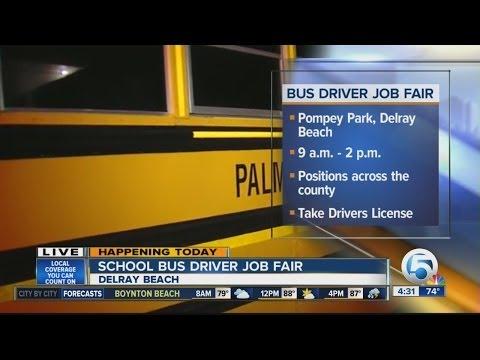 Palm Beach Co. Schools Holding Bus Driver Job Fair