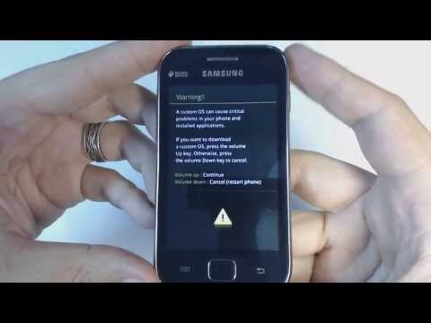 Samsung Galaxy Ace Duos S6802 - How to put phone in download mode