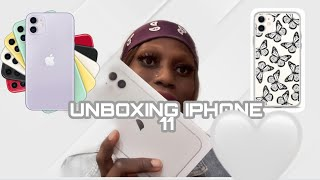 UNBOXING  MY IPHONE 📱 11proWHITE iPhone 7plus to an iPhone 11🦋🥰