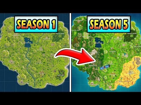 The Evolution Of The Fortnite Map (Season 1 - Season 5)