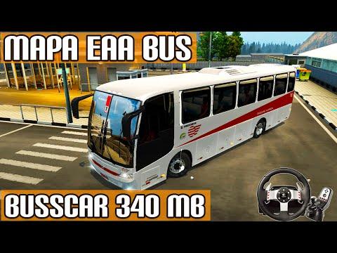 Euro Truck Simulator 2 - Mod Ônibus Busscar 340MB Mapa Eaa Bus