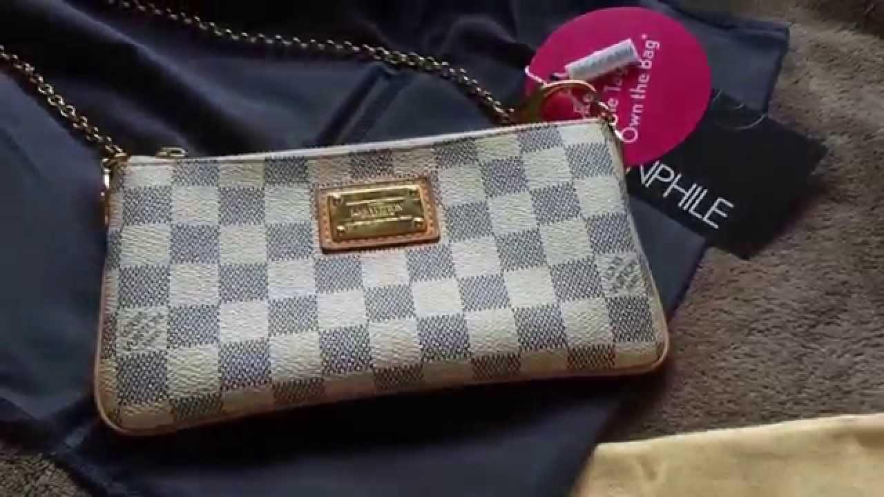 a29d42d2dfb4 Louis Vuitton Damier Azur Milla Pochette Clutch MM Unboxing - YouTube