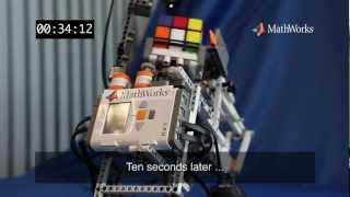 Lego Mindstorms Robot solves a Rubik