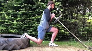 landmine split squat