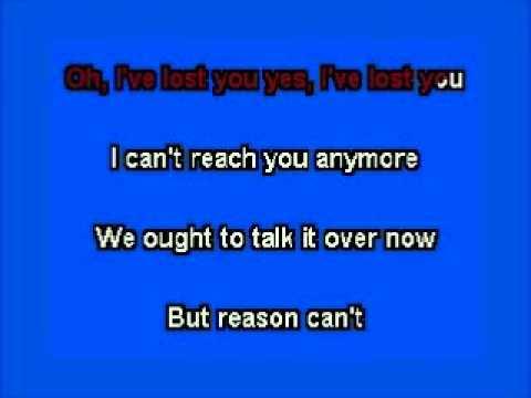 elvis karaoke i've lost you