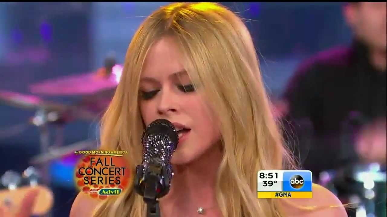 Good Morning America How Are You Chords : Avril lavigne let me go good morning america