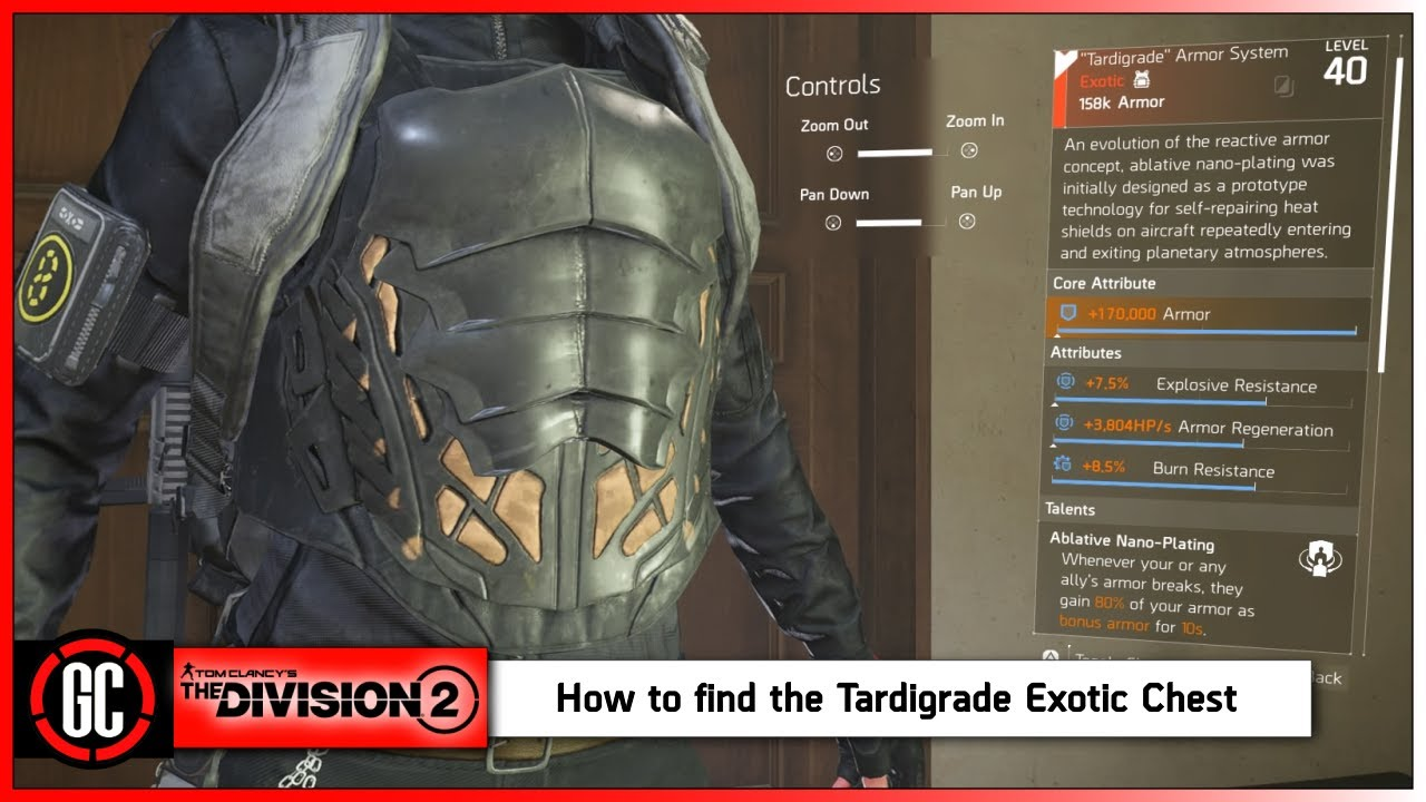 The Tardigrade Exotic Chest Piece Is Insane New Raid Build Find It Now In The Division 2 Youtube