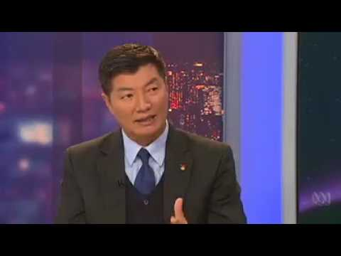 President of Central Tibetan Administration, Dr Lobsang Sangay being interviewed by presenter Bever