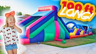 Download Everleigh Came Home From School and We Surprised Her With a 100 FT Bounce House In Our Backyard!!! Mp3 and Videos