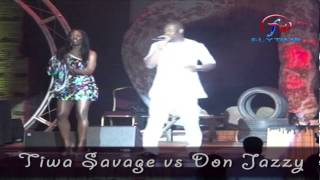 "FlytimeTV:Tiwa Savage & Don Jazzy perform ""Without My Heart"" at the 9ice Bashorun Gaa Versus Concert"